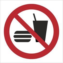 Obrazek dla kategorii Znak Zakaz spożywania posiłków (P22)