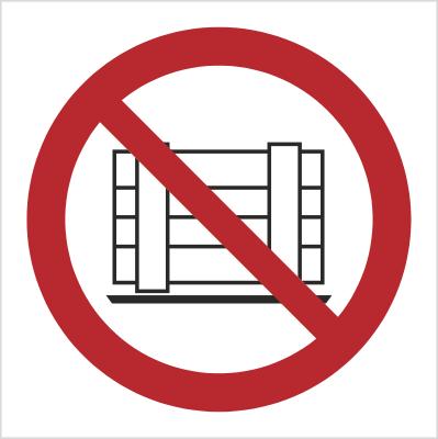 Znak Nie zastawiać (P23)