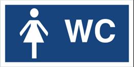Obrazek dla kategorii Znak Toaleta damska (823-08)