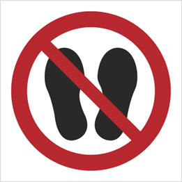 Obrazek dla kategorii Znak Zakaz chodzenia i stawania (P24)