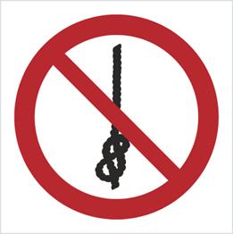 Obrazek dla kategorii Znak Zakaz wiązania węzłów (P30)