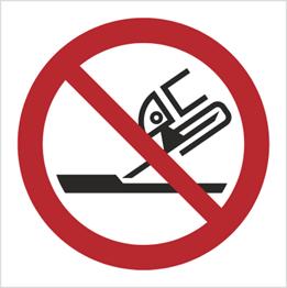 Obrazek dla kategorii Znak Zakaz używania szlifierki (P32)