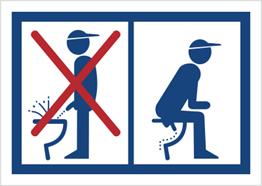 Obrazek dla kategorii Zakaz oddawania moczu na stojąco (823-09)
