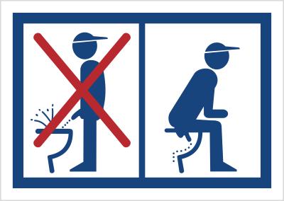 Zakaz oddawania moczu na stojąco (823-09)