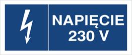 Obrazek dla kategorii Znak Napięcie 230V (530-14)
