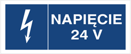 Obrazek dla kategorii Znak Napięcie 24V (530-15)
