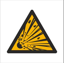 Obrazek dla kategorii Znak Ostrzeżenie przed niebezpieczeństwem wybuchu (W02)