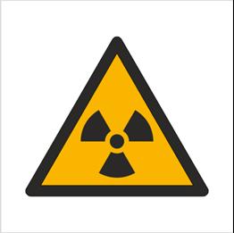 Obrazek dla kategorii Znak Ostrzeżenie przed materiałem radioaktywnym lub promieniowaniem jonizującym (W03)