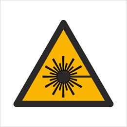 Obrazek dla kategorii Znak Ostrzeżenie przed wiązką laserową (W04)