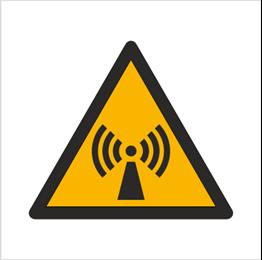 Obrazek dla kategorii Znak Ostrzeżenie przed promieniowaniem niejonizującym (W05)
