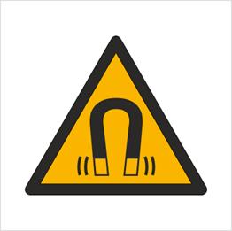 Obrazek dla kategorii Znak Ostrzeżenie przed silnym polem magnetycznym (W06)