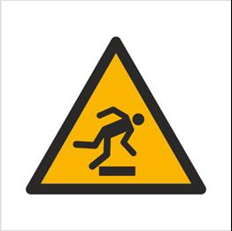 Obrazek dla kategorii Znak Ostrzeżenie przed niebezpieczeństwem potknięcia się (W07)