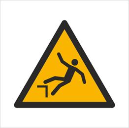 Obrazek dla kategorii Znak Ostrzeżenie przed spadnięciem (upadkiem) (W08)
