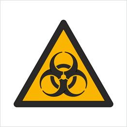 Obrazek dla kategorii Znak Ostrzeżenie przed skażeniem biologicznym (W09)