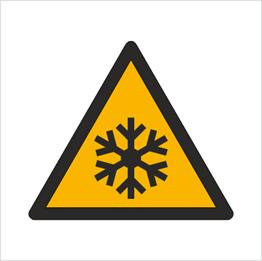 Obrazek dla kategorii Znak Ostrzeżenie przed niską temperaturą / warunkami zamarzania (W10)