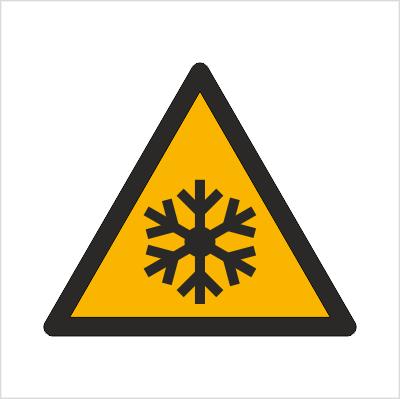 Znak Ostrzeżenie przed niską temperaturą / warunkami zamarzania (W10)