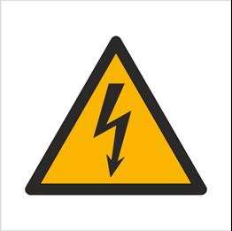 Obrazek dla kategorii Znak Ostrzeżenie przed napięciem elektrycznym (W12)