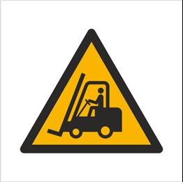 Obrazek dla kategorii Znak Ostrzeżenie przed urządzeniami do transportu poziomego (W14)