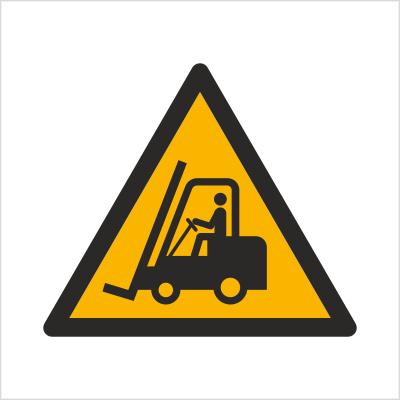 Znak Ostrzeżenie przed urządzeniami do transportu poziomego (W14)