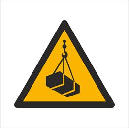 Obrazek dla kategorii Znak Ostrzeżenie przed wiszącymi przedmiotami (wiszącym ciężarem) (W15)