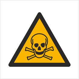 Obrazek dla kategorii Znak Ostrzeżenie przed materiałami toksycznymi (W16)