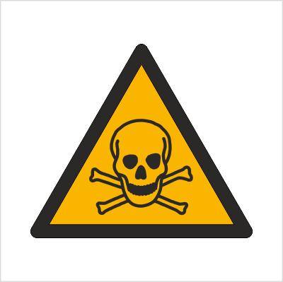 Znak Ostrzeżenie przed materiałami toksycznymi (W16)