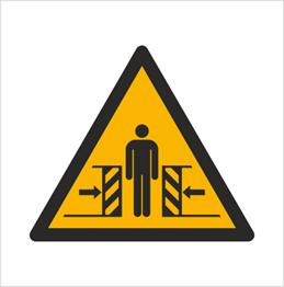 Obrazek dla kategorii Znak Ostrzeżenie przed zgnieceniem bocznym (W19)