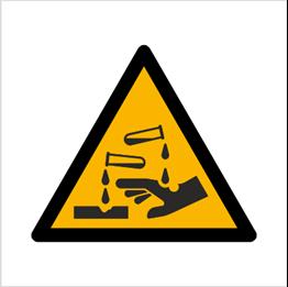 Obrazek dla kategorii Znak Ostrzeżenie przed substancjami żrącymi (W23)