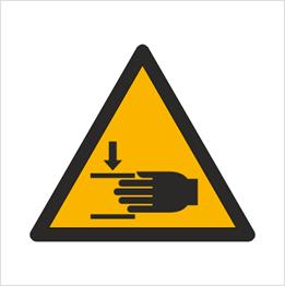 Obrazek dla kategorii Znak Ostrzeżenie przed zgnieceniem dłoni (W24)