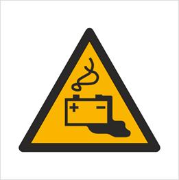Obrazek dla kategorii Znak Ostrzeżenie przed ładowaniem baterii (W26)