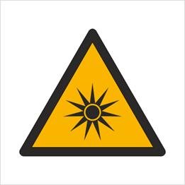 Obrazek dla kategorii Znak Ostrzeżenie przed promieniowaniem optycznym (W27)