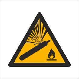 Obrazek dla kategorii Znak Ostrzeżenie przed butlami pod ciśnieniem (W29)