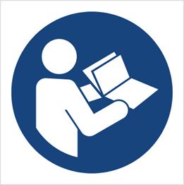 Obrazek dla kategorii Znak Nakaz przeczytania instrukcji (M02)