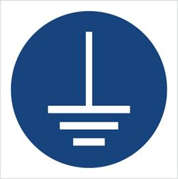 Obrazek dla kategorii Znak Nakaz podłączenia uziemienia (M05)