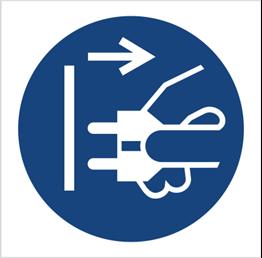 Obrazek dla kategorii Znak Nakaz odłączenia urządzenia od sieci elektrycznej (M06)