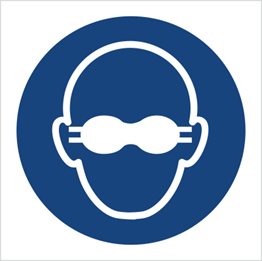 Obrazek dla kategorii Znak Nakaz stosowania przyciemnianych gogli ochronnych (M07)