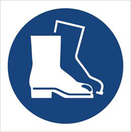 Obrazek dla kategorii Znak Nakaz stosowania ochrony stóp (M08)