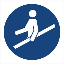 Obrazek dla kategorii Znak Nakaz używania poręczy (M12)
