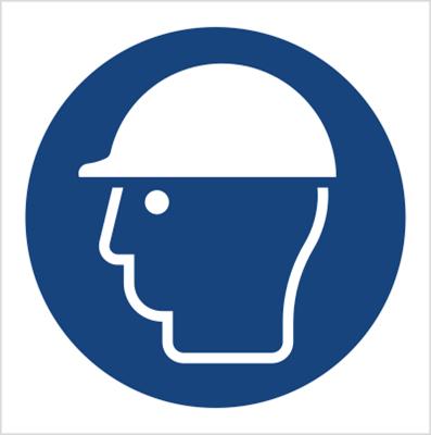 Znak Nakaz stosowania ochrony głowy (M14)