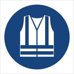 Obrazek dla kategorii Znak Nakaz stosowania kamizelki odblaskowej (M15)