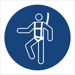 Obrazek dla kategorii Znak Nakaz stosowania szelek bezpieczeństwa (M18)