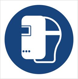Obrazek dla kategorii Znak Nakaz stosowania maski spawalniczej (M19)
