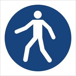 Obrazek dla kategorii Znak Nakaz przechodzenia w oznakowanym miejscu (M24)
