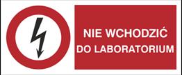 Obrazek dla kategorii Znak Nie wchodzić do laboratorium (630-08)