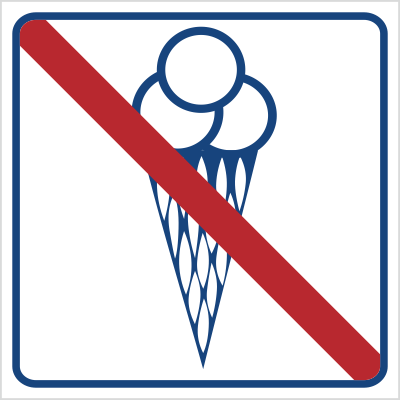 Zakaz wchodzenia z lodami (823-13)