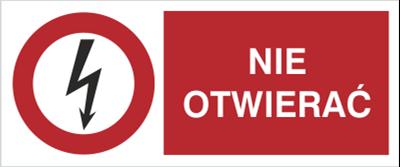 Znak Nie otwierać (630-14)