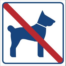 Obrazek dla kategorii Zakaz wstępu ze zwierzętami (823-16)