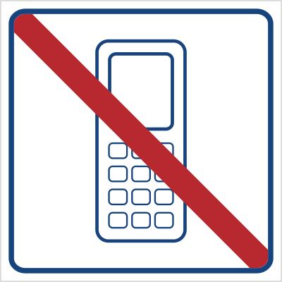 Zakaz używania telefonów komórkowych (823-17)