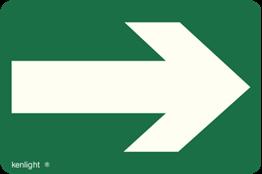 Obrazek dla kategorii Znak Kierunek wyjścia ewakuacyjnego fotoluminesencyjny