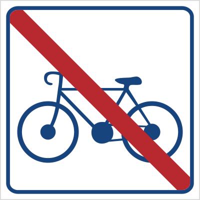 Zakaz jazdy na rowerze (823-18)
